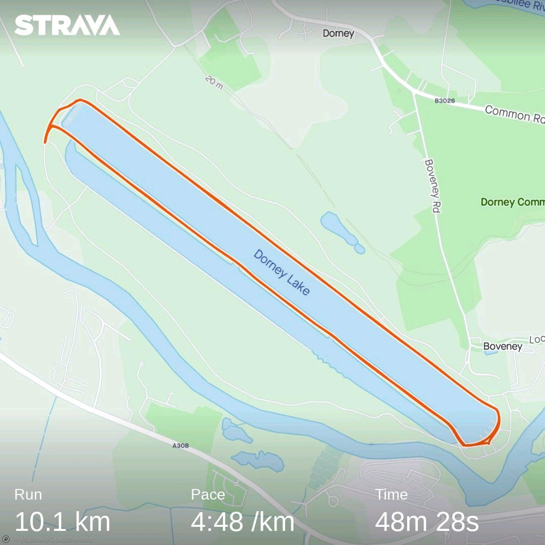 Windsor Dorney Lake 10K Strava Route